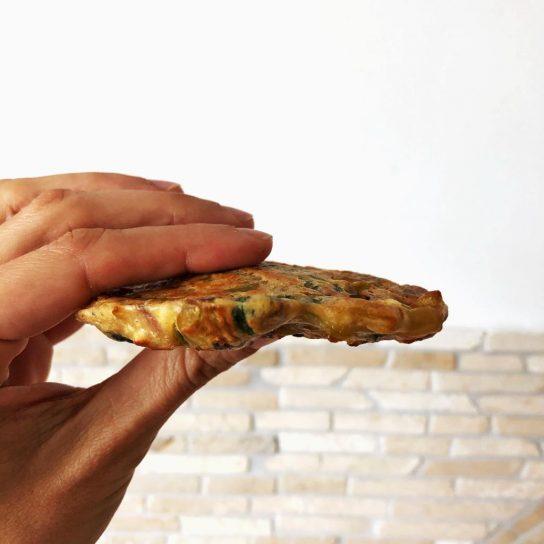 Hamburguesa de puerro y espinacas