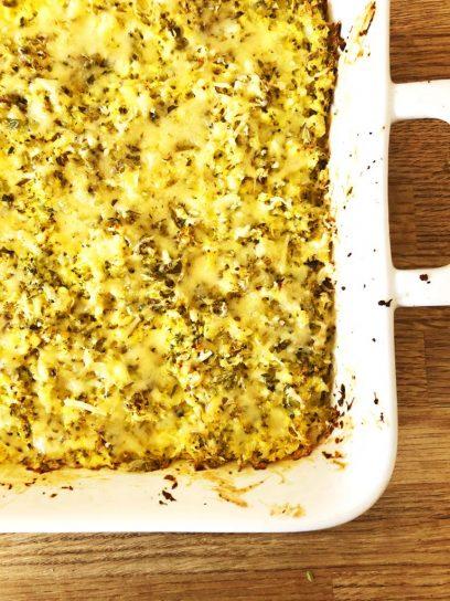 crujiente de brócoli y coliflor