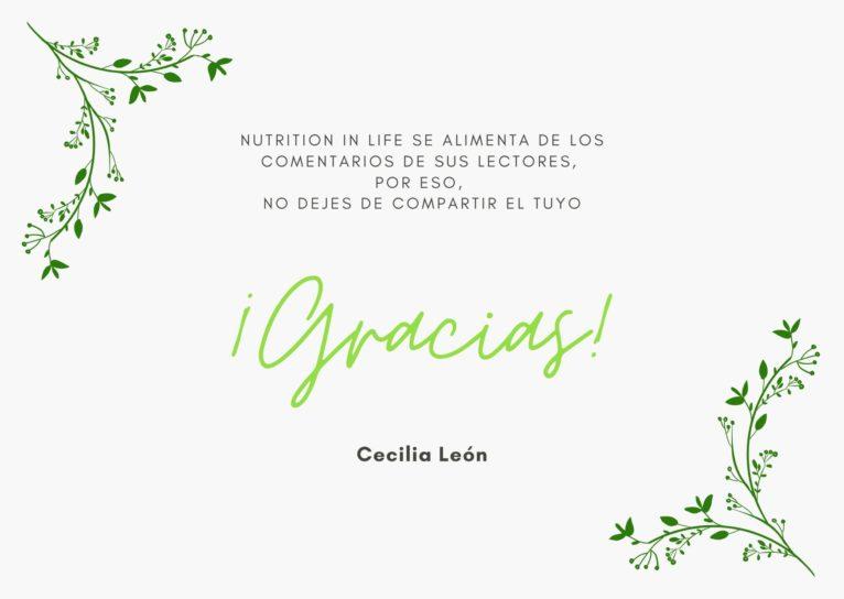 Nutrition In Life se alimenta de los comentarios de sus lectores, por eso, no dejes de compartir el tuyo ¡Gracias!